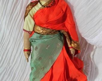 Vintage Indian Hindu Wedding Doll/Vintage Cloth Hindu Doll/Widows Industrial Home Doll/Vintage Ethnic Hindi Doll/Paramahansa Yogananda Doll