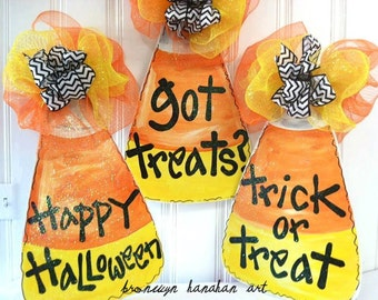 Candy Corn Door Hanger - Bronwyn Hanahan Art