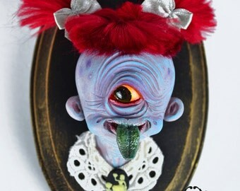 Tomohisa - yokai Hitotsume Kozo art toy resin figure toy collectible fantasy creature magical Japanese mythology folklore cyclop monster