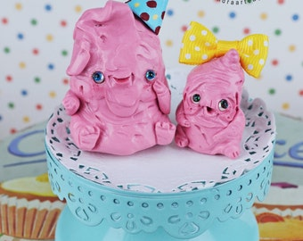 EXTRA SALE! - Martha Chumchum & Dorothea Bangbang - Chewing Gums  chewed gum friends Art Doll ooak  mascot fantasy creatures pastel pink