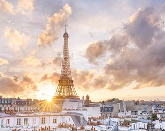 Paris Photography - After the Storm, Paris, Eiffel Tower, Gallery Wall Art, French Home Decor, Travel Fine Art Photograph, Large Wall Art