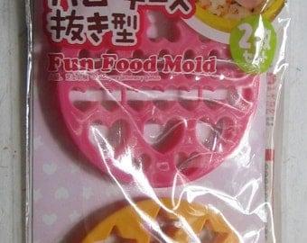 Cute Japanese Food Cutters - Hearts & Stars - Bento Box