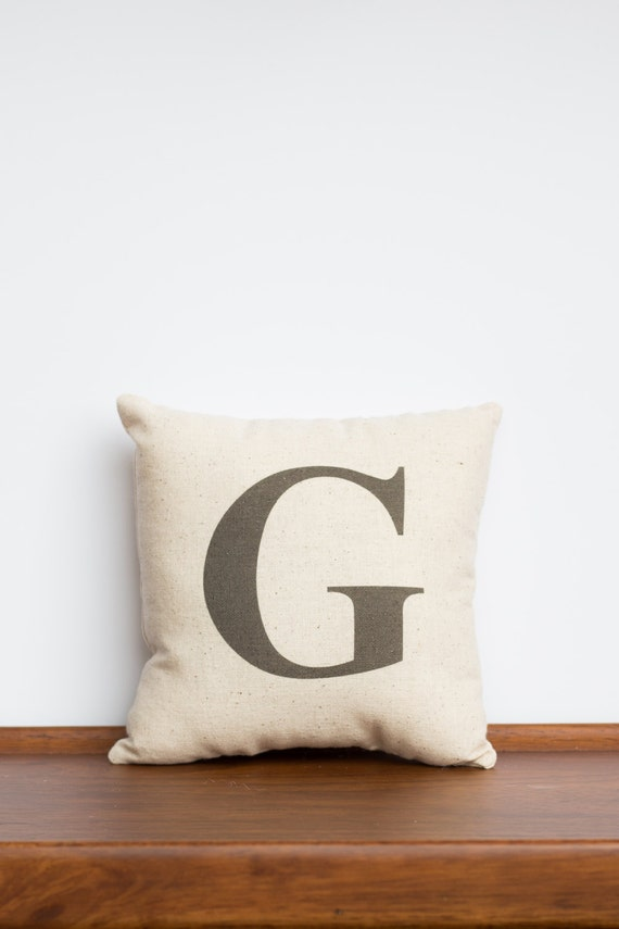 Custom Monogram Pillow | Cotton Anniversary | Symbol Pillow | Family Accent Design | Personalized Gift for Her | Tan Nursery Baby Decor