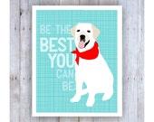 White Labrador Retriever, Labrador Retriever Art, Lab Poster, Lab Print, Dog Art Print, Dog Wall Decor, Dog Decor, Lab Decor, Pet Lover Gift