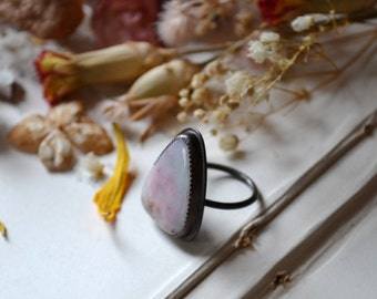 Shark Tooth White Stone Ring