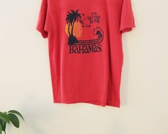 80's Red Bahamas Tee