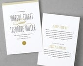 Printable Wedding Program Template | Instant DOWNLOAD | Matchbook | Folded 5x7 | Editable Text | Word or Pages  | Easy DIY | Editable Colors