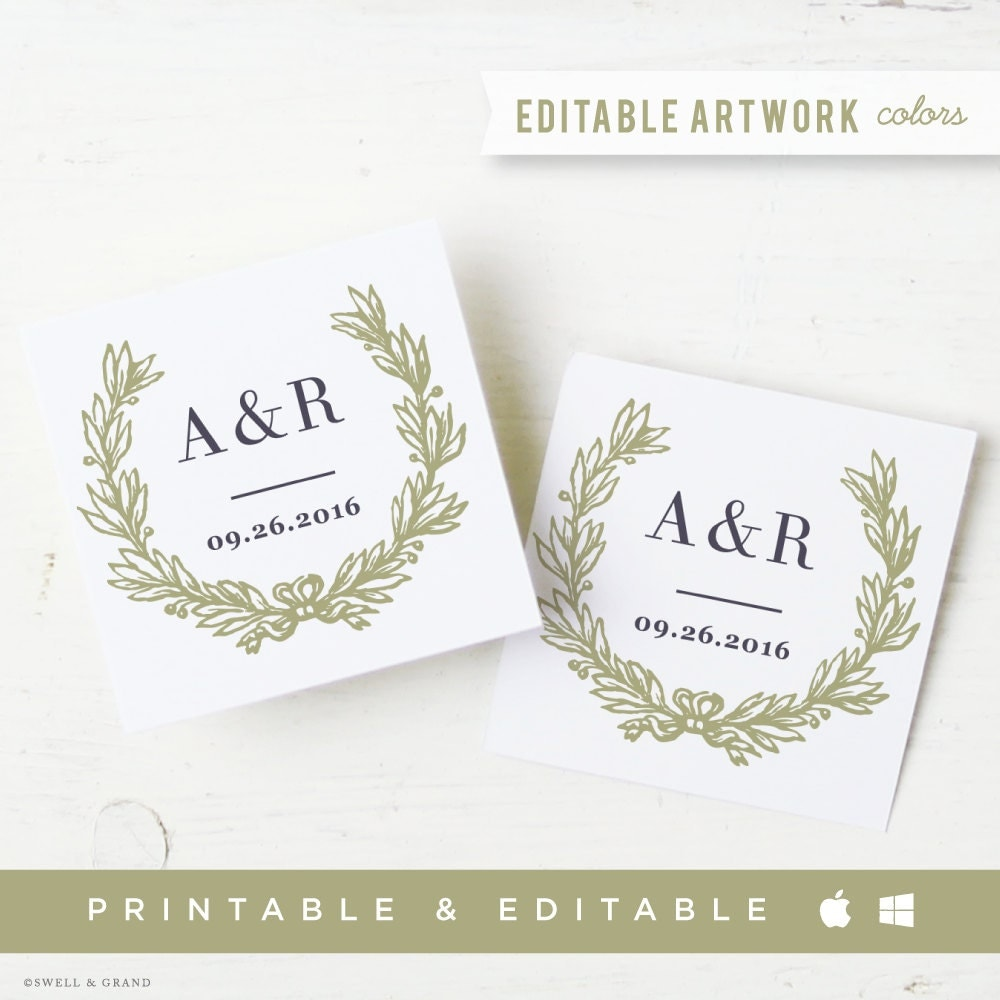 Free Printable Wedding Gift Tags: Printable Wedding Favor Tags & Labels INSTANT By SwellAndGrand
