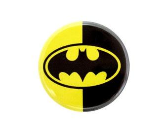 "Geek Pinback Button, Small Badge, 1.25"" Button, Bat Symbol, Superhero Button, Geek Button - Z04"