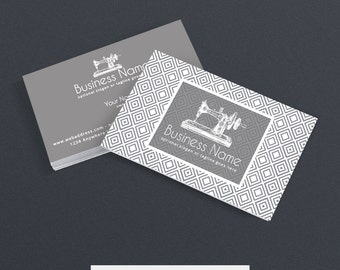 SALE 30% OFF Business Card Designs - Sewing Themed Business Card - Sewing Business Cards - Business Card Design Sewing 102