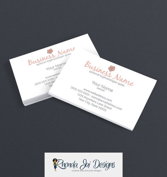 Items similar to Business Card Designs Etsy Shop