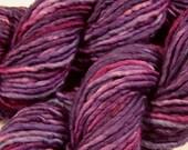 SALE! Hand Dyed Bulky Yarn - Bulky Weight Single Ply Superwash Merino Wool / Nylon Yarn - Wisteria Multi - Knitting Yarn, Wool Yarn, Purple