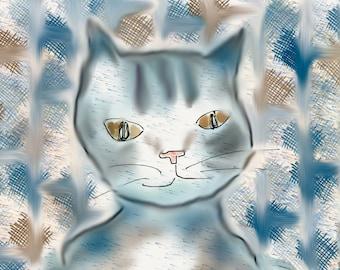 Levi the Blue Cat
