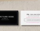 Business Card Template - Wedding Photographer Business Card -Photography Business Card Design - Customizable Photoshop Design
