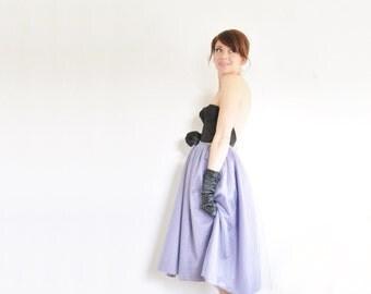 tulle periwinkle tutu skirt . prom dance . formal fairy wear in purple slate .medium
