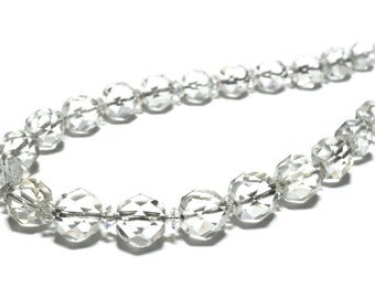 1930s Faceted Rock Crystal Bead Necklace