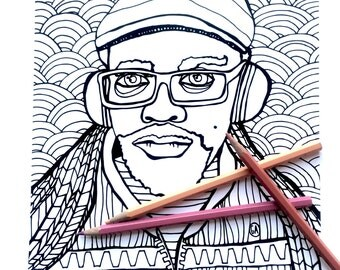Coloring Page - Marcos with headphones - Download