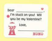 Bubble Gum Balls in Machine - Fill in the Blanks Valentine's Day Cards - Great for Classroom Valentine Parties