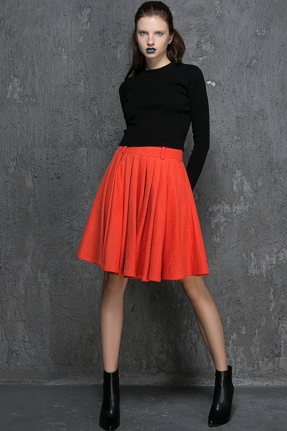Wool Short Skirt 107