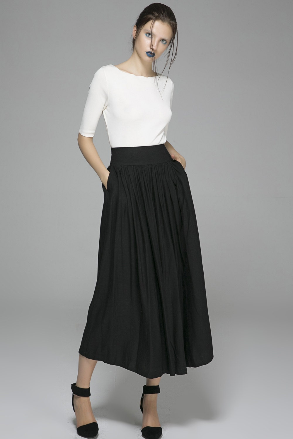 Skirts: Free Shipping on orders over $45 at hitseparatingfiletransfer.tk - Your Online Skirts Store! Get 5% in rewards with Club O! Catalog Classics Women's Black & White Tiered Eyelet Skirt - Mixed Patterns Maxi. 1 Review. SALE. Women's Patchwork Black And White Maxi Skirt - Elastic Waist - 36