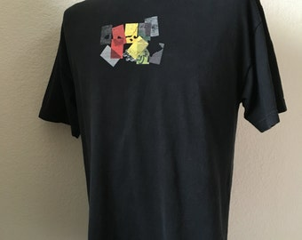 Vintage Men's 90's Local Motion, Surf T Shirt, Black, Short Sleeve (L)