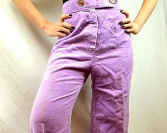 RARE 1970s Vintage Purple Lavender Bell Bottoms Pants -- Moody's Goose