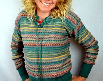 Vintage 1980s Striped Fun Rainbow Sweater