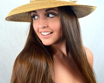 Vintage Summer Raffia Straw Hat - Hoodlums Ltd