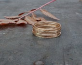 Gold Stacking Rings, SET OF 6, 14k Gold Fill stacker rings