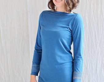 Bracelet Top, Long Sleeve, Bamboo Jersey, Eco Fashion, Modern Style- made to order