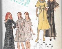 Uncut, Misses Size 16, Vintage Sewing Pattern, Butterick 6455, Woman, Robe, Nightgown, Lace, Ruffles, Lingerie, Sheer, Gown, Flutter Sleeves