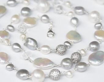 Long Wedding Necklace, Wedding Necklace,  Long Bridal Necklace, Long Bride Necklace, Wedding Jewelry, Wedding Necklace, Wedding Accessories