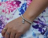 Silver Pineapple Bracelet.