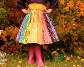 Fall Over the rainbow dress by Corinna Couture Fall 2015