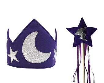 The Magical Wizard Crown and Wand Set