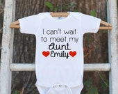 Pregnancy Announcement - I Can't Wait to Meet My Aunt - New Aunt Pregnancy Reveal Idea - Surprise Baby Announcement - I Love My Aunt to Be