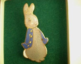 Beatrix Potter Rabbit  Brooch