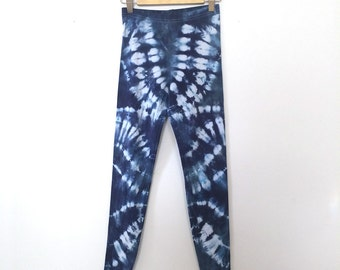 Psychedelic Shibori-Dyed Leggings - Size Small - S