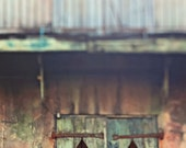 """New Orleans French Quarter Art """"The Music Plays Here"""" - shuttered doors preservation hall photograph louisiana photography fine art print"""
