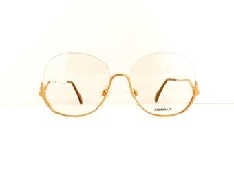 Menrad Eyeglasses Frames Women's 1970's/1980's Half Rim with Silver Frames Deadstock NOS #M354 DIVINE