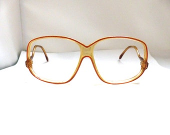 CAZAL 1980S Eyeglasses // 80s Vintage Designer Frames  // Western Germany/ drop arm large lens