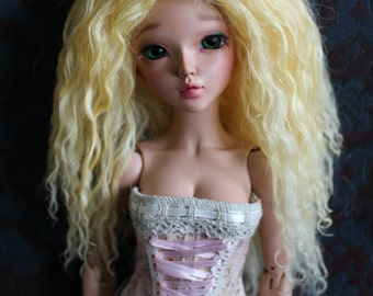 Light Yellow mohair wig for Minifee / MSD