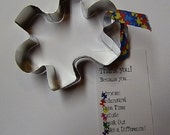 Autism Awareness Puzzle Piece Cookie Cutter