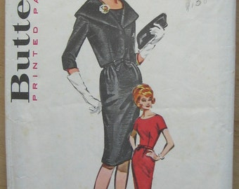 60s Dress and Jacket Pattern - Butterick 9960 - Size 18 Bust 38 - Sheath Dress Pattern - Jacket Pattern - 1960s Dress and Jacket Pattern