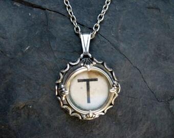 Typewriter Key Jewelry - Typewriter Charm - Letter T