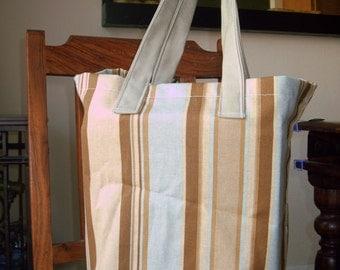 Reusable shopping bag, mens shopping bag, reusable grocery bag, blue shopping bag
