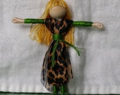 Leopard Flower Fairy, Fairy doll, fairy, Waldorf Doll, bendy doll