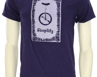Simplify| Men's regular T Shirt| Unicycle Bike| Art by MATLEY| Up to 5XL| Gift for him and her| Cycling apparel| Bicycle t shirt| Great gift
