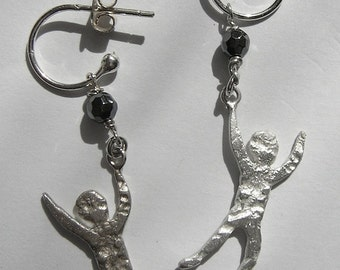 Sterling Silver Boy Earrings