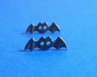 Black Bat Earrings Bat Studs Bat Jewelry Goth Earring sterling silver gift Teen birthday gift Jewelry teen gift for kids